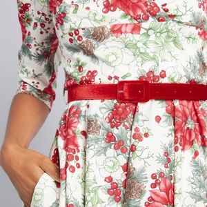 Hell Bunny Dresses - Hell Bunny Festive Impression Floral Dress